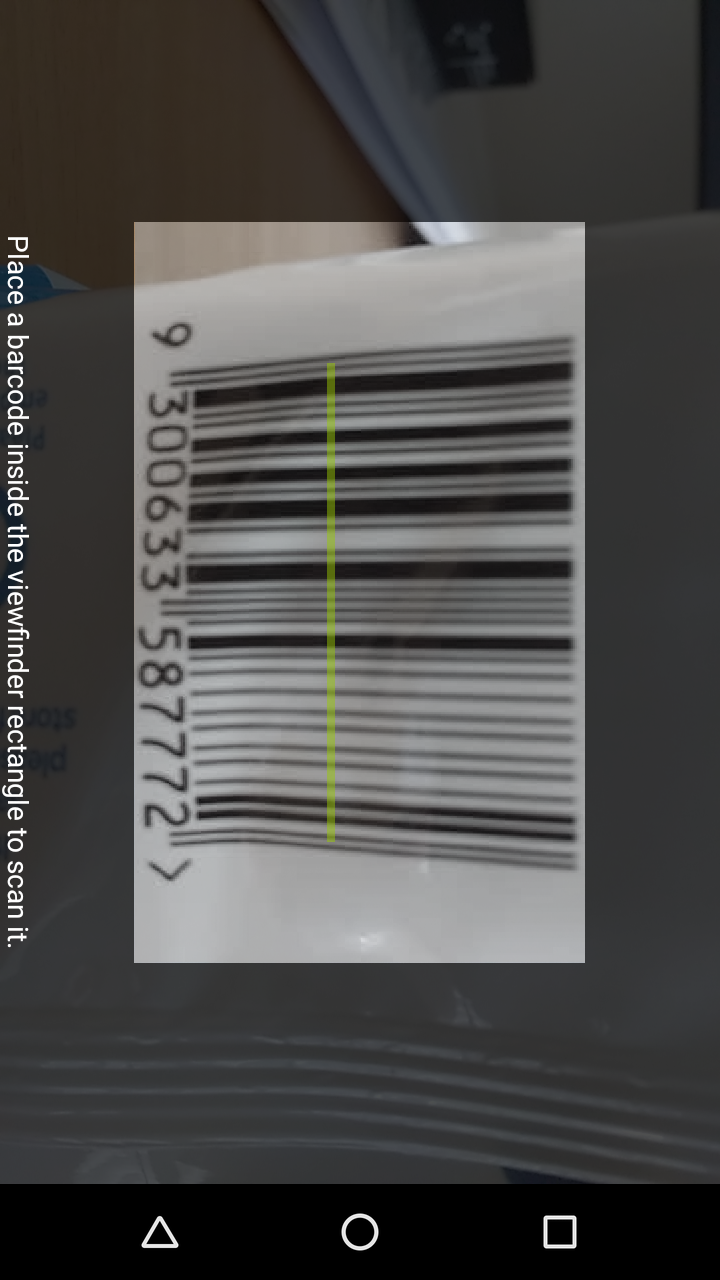 Barcode Compare Scanning