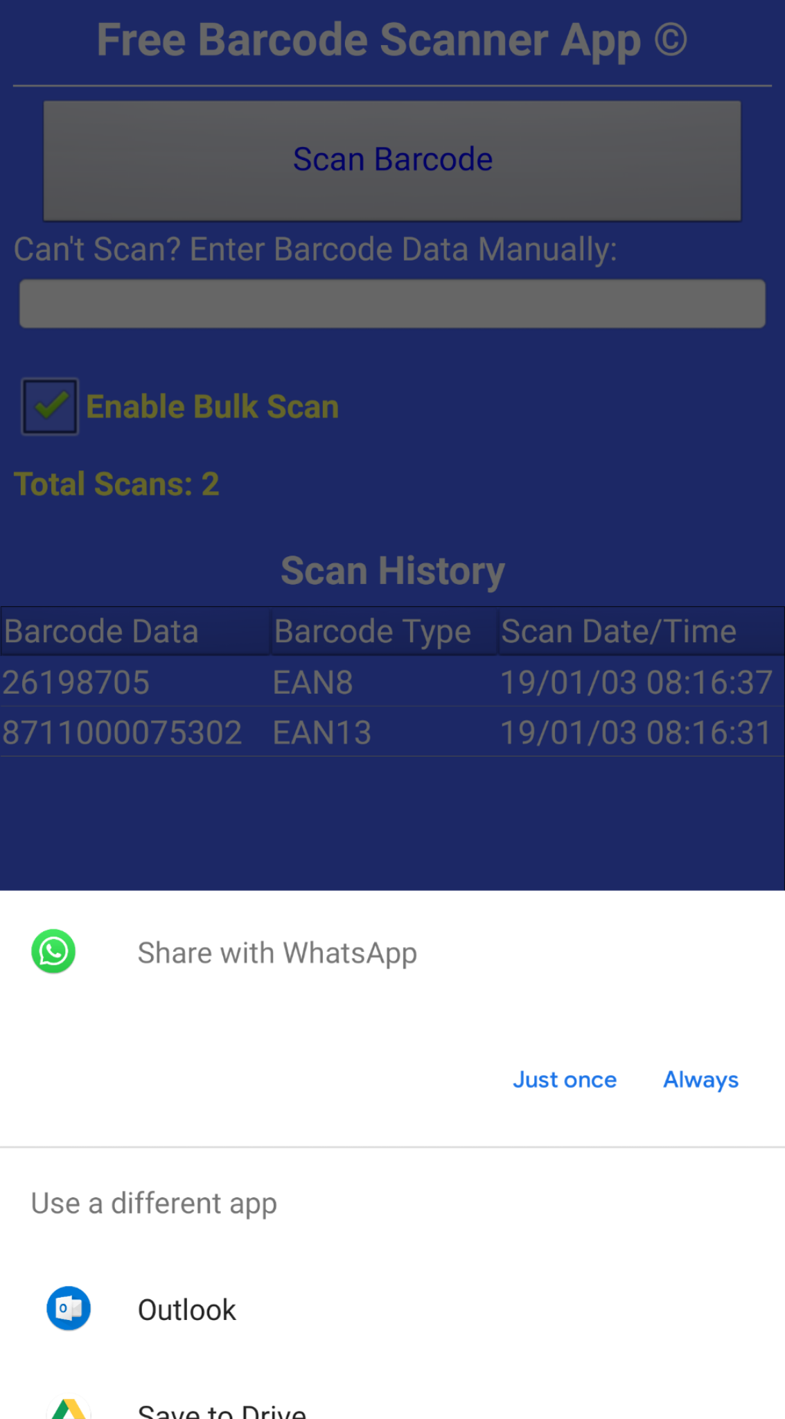 Free Barcode Scanner App | Scope Link Barcode Technologies